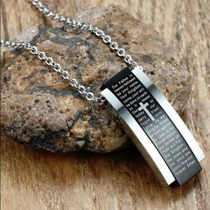 Other - Men's English Lord's Prayer Pendant Necklace